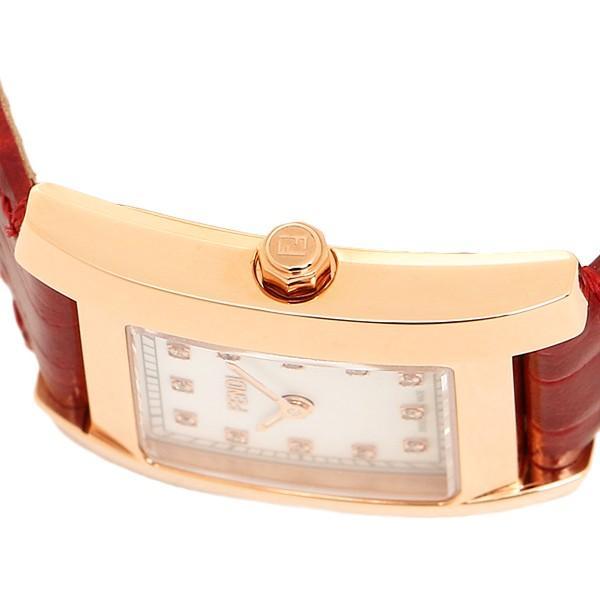 フェンディ 時計 レディース FENDI F704247D CLASSICO クラシコ 腕時計 ウォッチ ホワイトパール/レッド/ゴールド