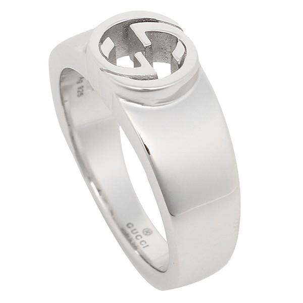グッチ GUCCI 指輪 リング アクセサリー レディース GUCCI 374666 J8400 0702 インターロッキングG 指輪 シルバー|1andone