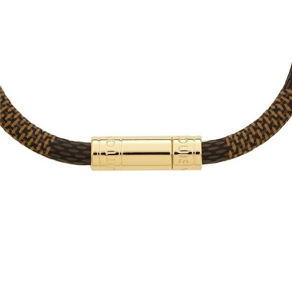 ルイヴィトン ブレスレット アクセサリー レディース LOUIS VUITTON M6139 ブラウン ゴールド|1andone|05