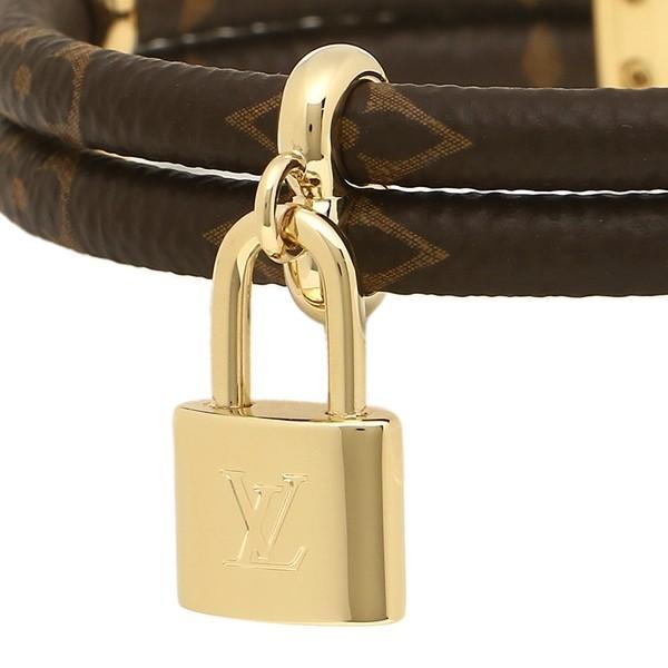 ルイヴィトン ブレスレット アクセサリー レディース LOUIS VUITTON M6640 ブラウン ゴールド|1andone|02