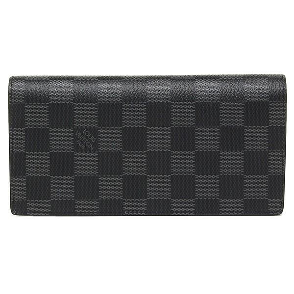 ルイヴィトン LOUIS VUITTONヴィトン ルイ ヴィトン財布 二つ折り長財布 N62665 ダミエグラフィット ポルトフォイユブラザ|1andone|05