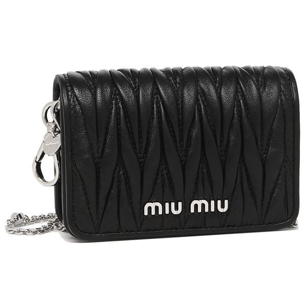 ミュウミュウ ショルダーバッグ レディース MIU MIU 5DH012 2CE3 F0002 ブラック