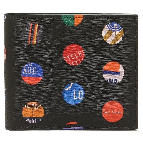 ポールスミス 折財布 メンズ PAUL SMITH 4833-A40042 79 ブラック マルチカラー|1andone|05