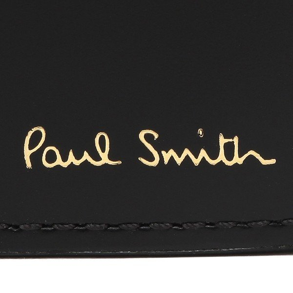ポールスミス 折財布 メンズ PAUL SMITH 4833 A40245 PR ブラック マルチカラー|1andone|06