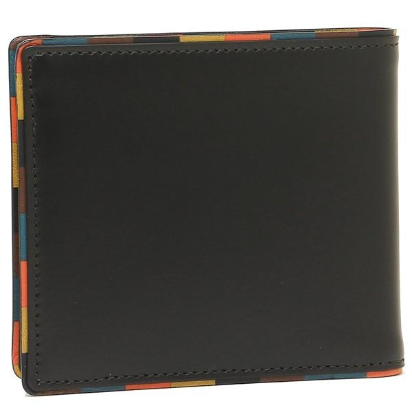 ポールスミス 折財布 メンズ PAUL SMITH 4833-AEDGE 79 ブラック マルチカラー 1andone 03