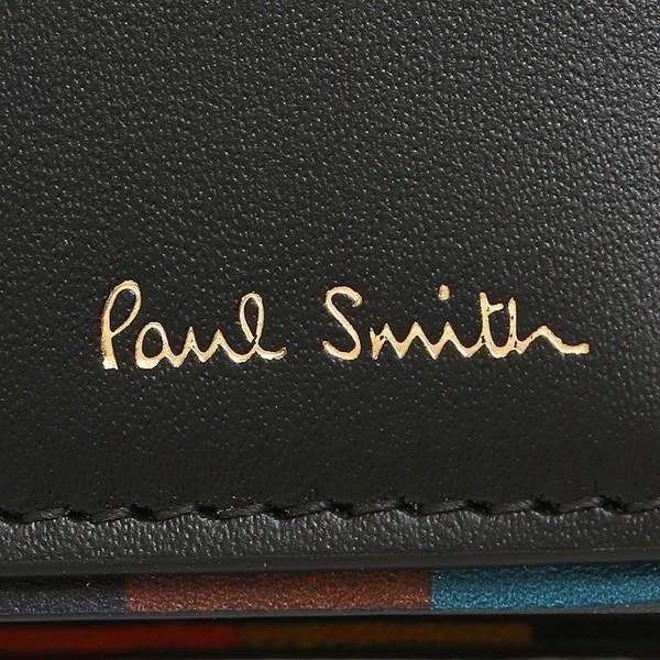 ポールスミス 折財布 メンズ PAUL SMITH 4833-AEDGE 79 ブラック マルチカラー 1andone 06