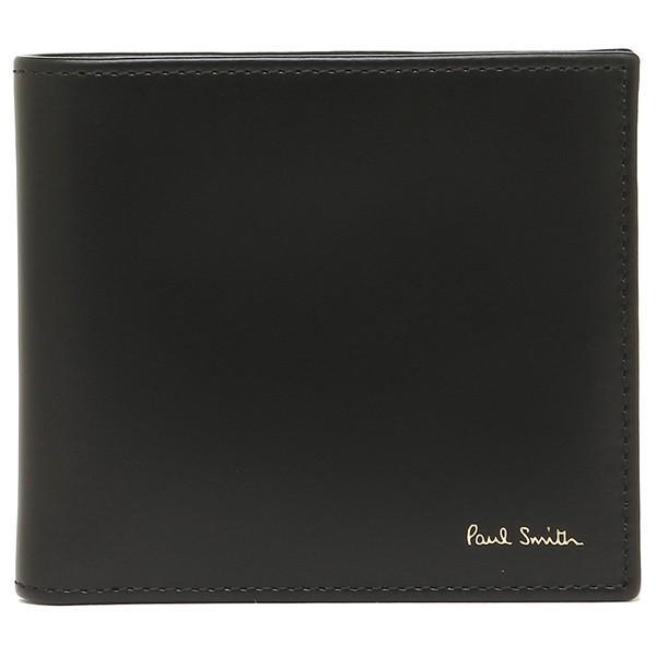 ポールスミス 折財布 メンズ PAUL SMITH 4833-AMULTI 79 ブラック マルチカラー|1andone|05