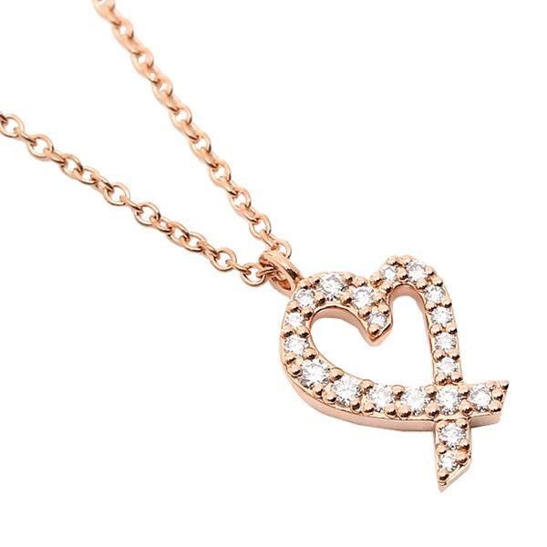 ティファニー ネックレス アクセサリー TIFFANY&Co. 26187869 ダイヤモンド ラビングハート スモール 16IN 18R ローズゴールド