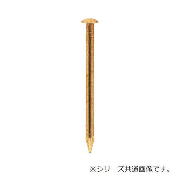 (同梱・代引き不可)真ちゅう釘 丸頭 17×16mm 1kg入 1547161