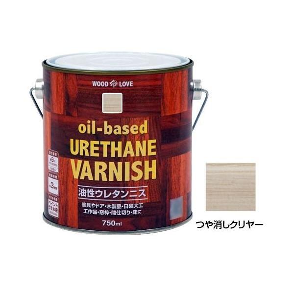 (同梱・代引き不可)ニッペホームペイント WOODLOVE 油性ウレタンニス つや消しクリヤー 750ml