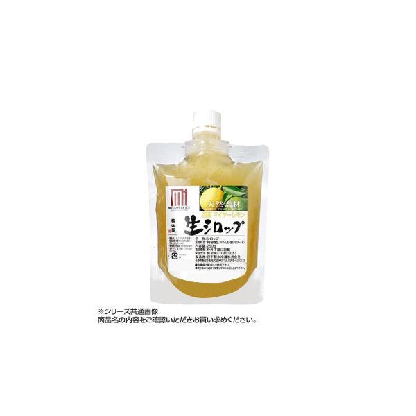 (同梱・代引き不可)かき氷生シロップ 三重県産マイヤーレモン 250g 3パックセット