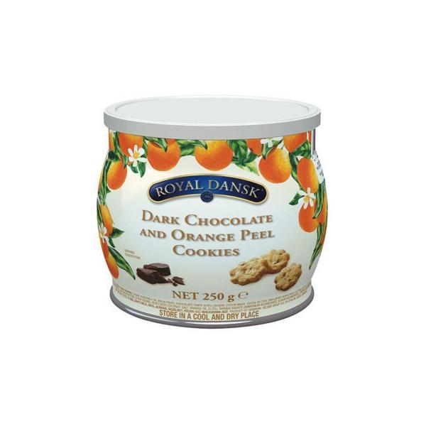 (同梱・代引き不可)ロイヤルダンスク ダークチョコ&オレンジピールクッキー 250g 12セット 011062