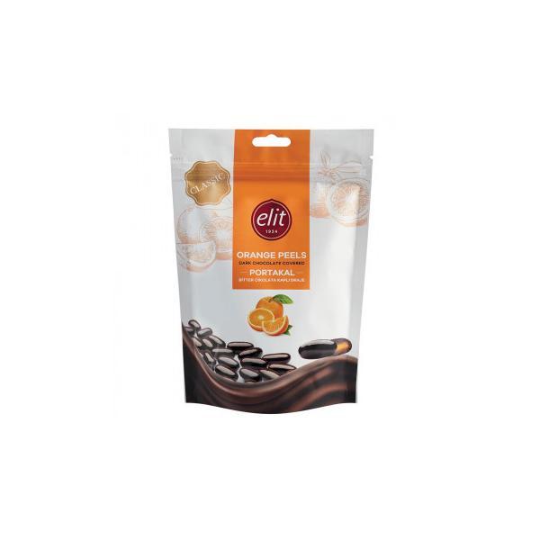 (同梱・代引き不可)エリート ダークチョコレート オレンジピール 125g 12セット