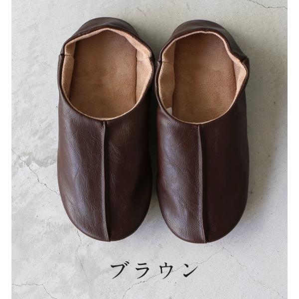 sarasa design サラサデザイン Maestro room shoes for lady 女性用ルームシューズ Leather メール便不可 スリッパ レザー スエード レディース|1em-rue|03