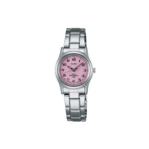 SEIKO ALBA セイコー アルバ レディース腕時計 ソーラー ピンク AEGD540