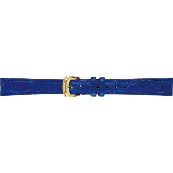 SEIKO BAND 12mm セイコー 替えベルト サイドワニ(切身ステッチ付) 婦人用 ブルー DEK0 正規品 返品不可【ネコポス可能】