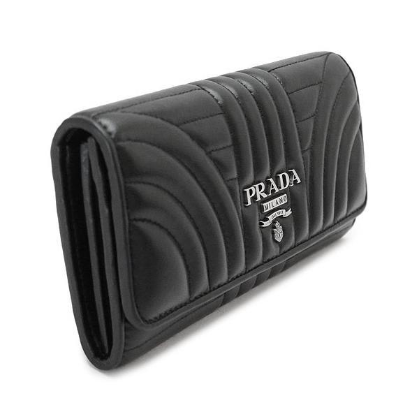 プラダ 長財布 レディース PRADA  黒 ブラック ネロ レザー 1MH132 2B0X F0002/NAPPA IMPUNTURE