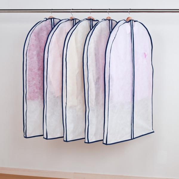 アストロ 洋服カバー マチ付き スーツ用 5枚組 湿気・ホコリ対策 厚手のものやシルエットの気になる衣類の保管に最適 110-48|1storage|03