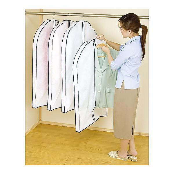 アストロ 洋服カバー マチ付き スーツ用 5枚組 湿気・ホコリ対策 厚手のものやシルエットの気になる衣類の保管に最適 110-48|1storage|07