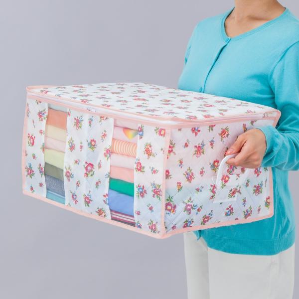 数量限定 衣類整理袋 ガーデン柄 ハンドル付 アストロ 183-33