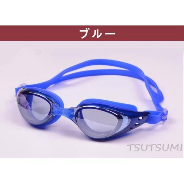 ミラーゴーグル スイムゴーグル くもり止め UVカット スイミングゴーグル 大人用 水泳 シンプルデザイン ゴーグル 水中メガネ 水中眼鏡 競泳|2015fukuya|03