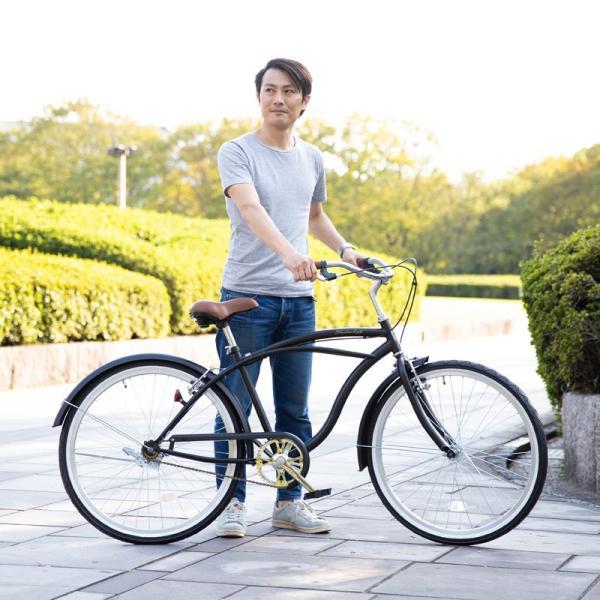 【20日限りの10%OFFクーポン発行中】送料無料 自転車 ビーチクルーザー 26インチ 【BC260-2019】 2019年新型|21technology|11