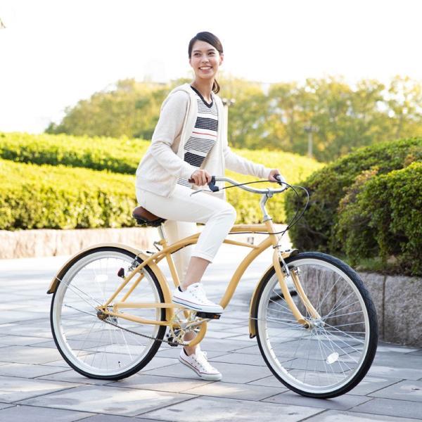 【20日限りの10%OFFクーポン発行中】送料無料 自転車 ビーチクルーザー 26インチ 【BC260-2019】 2019年新型|21technology|09
