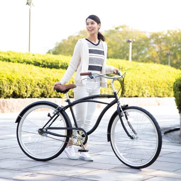 【20日限りの10%OFFクーポン発行中】送料無料 自転車 ビーチクルーザー 26インチ 【BC260-2019】 2019年新型|21technology|10