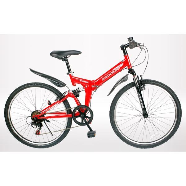 自転車 マウンテンバイク MTB266 折りたたみ シマノ製6段変速付き 26インチ|21technology|04