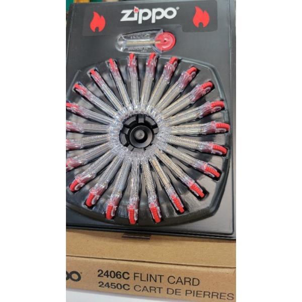 zippo 石 ライター ジッポ ライター ジッポフリント 石 6個入×24個セット(サークルディスプレィ付き現行は黒色)