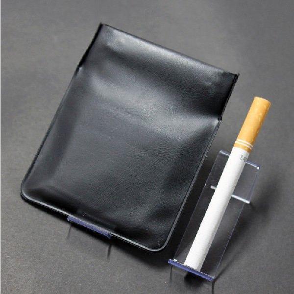 携帯灰皿 携帯くず入れ  ポケット灰皿 ちっポケレギュラーサイズ黒無地1個