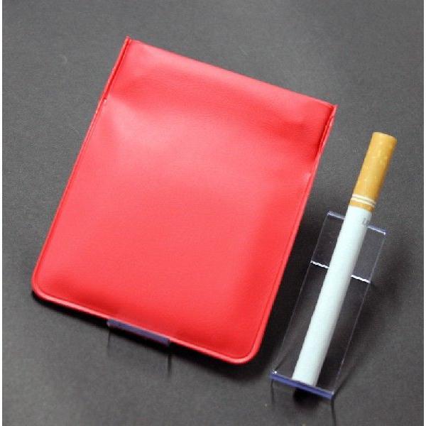 携帯灰皿 携帯くず入れ  ポケット灰皿 ちっポケレギュラーサイズ赤無地1個