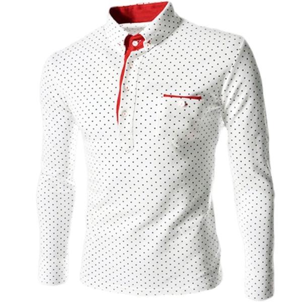 ゴルフウェア メンズ ポロシャツ 長袖 水玉|24store|03