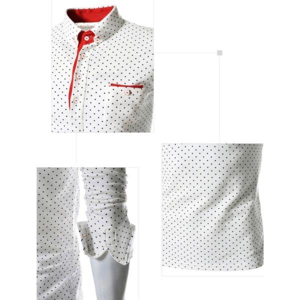 ゴルフウェア メンズ ポロシャツ 長袖 水玉|24store|06
