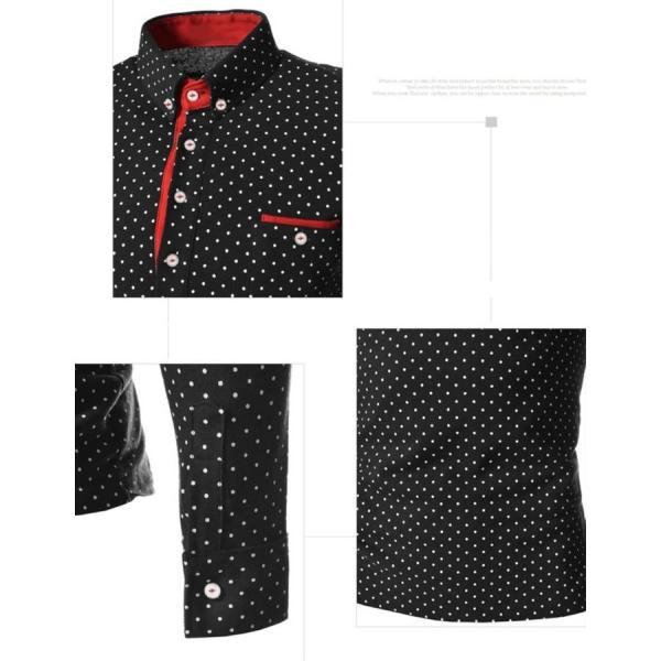 ゴルフウェア メンズ ポロシャツ 長袖 水玉|24store|08