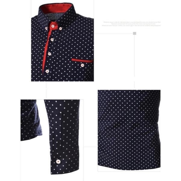 ゴルフウェア メンズ ポロシャツ 長袖 水玉|24store|10