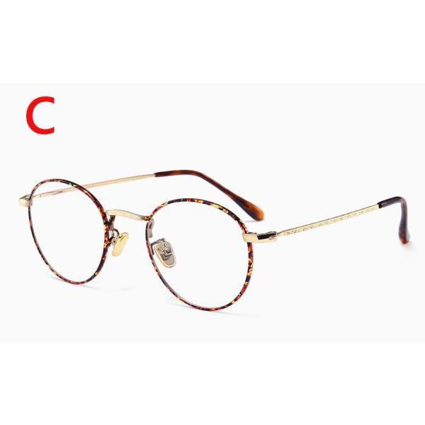 PCメガネ 丸型 ブルーライト カット メガネ 度なし おしゃれ パソコン用メガネ ブルーライトカット PC メガネ PC眼鏡 PCメガネ|24store|04