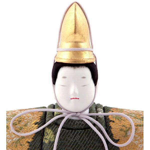 雛人形 幸一光 ひな人形 コンパクト 木目込み 平飾り 親王飾り 立雛 宝珠 (ほうじゅ) 正絹 黒塗り猫足台 伝統的工芸品 h313-koi-4180|2508-honpo|04