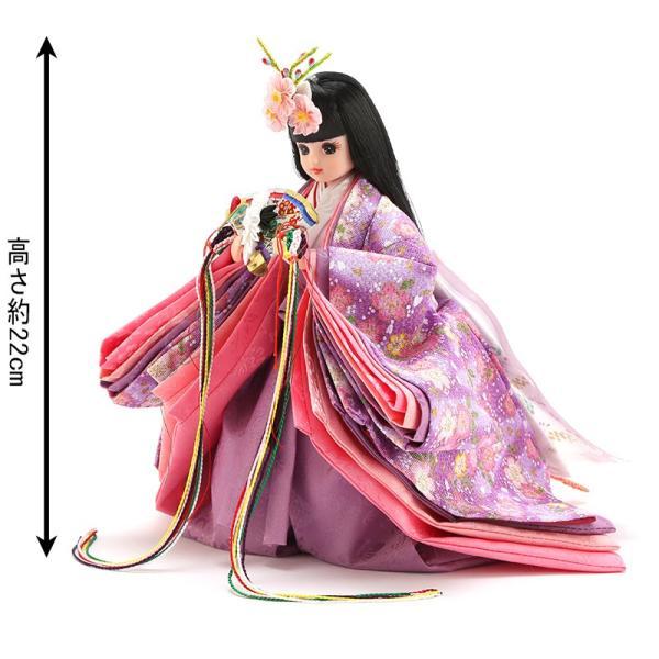 雛人形 リカちゃん 久月 立雛 単品 (紫) シリアル入 h293-ri-10-m|2508-honpo|02