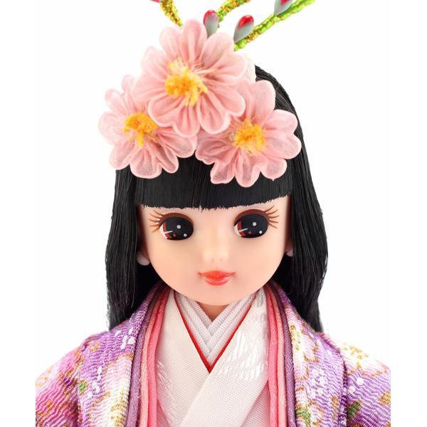 雛人形 リカちゃん 久月 立雛 単品 (紫) シリアル入 h293-ri-10-m|2508-honpo|03