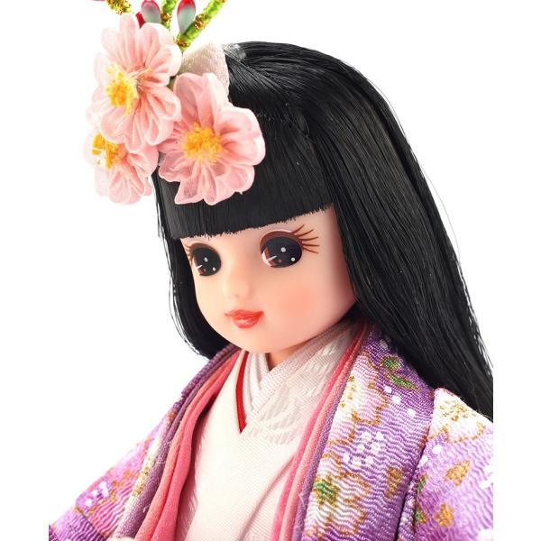 雛人形 リカちゃん 久月 立雛 単品 (紫) シリアル入 h293-ri-10-m|2508-honpo|04