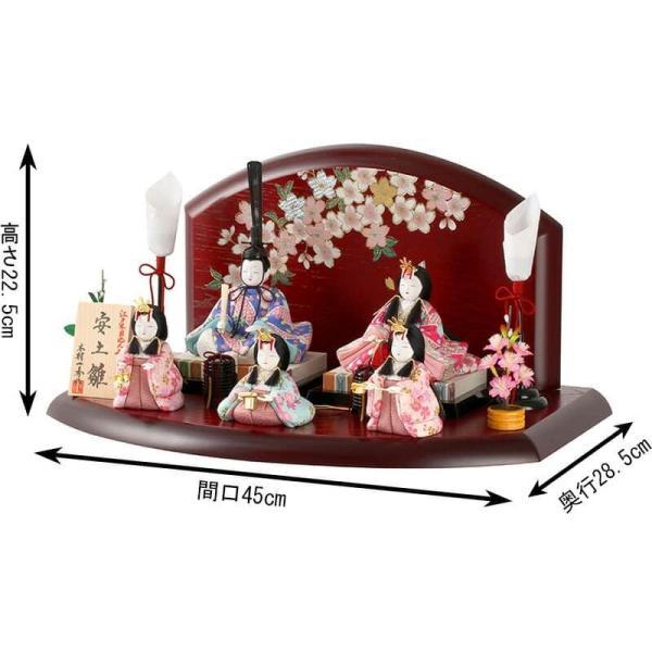 雛人形 一秀 ひな人形 木目込人形飾り 平飾り 五人飾り 木村 ...