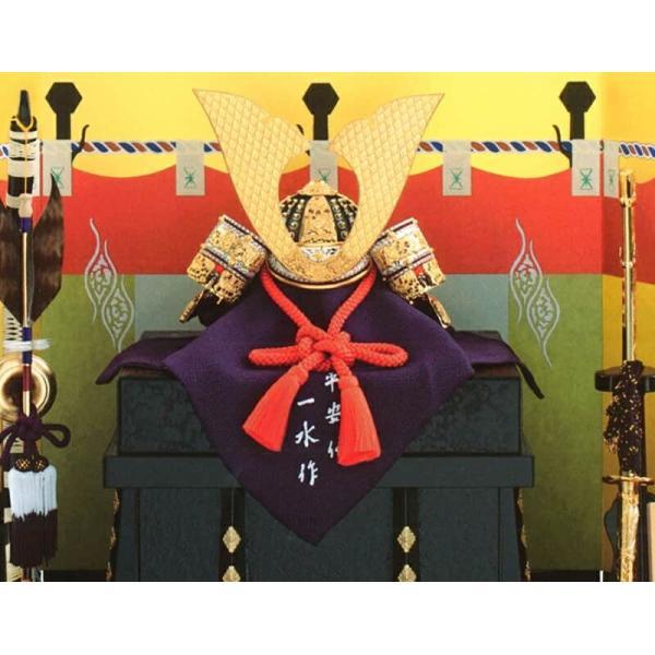 五月人形 久月 兜平飾り 兜飾り 平安一水作 本金箔押小札 正絹朱赤糸縅 10号 大鍬形之兜 h025-k-11910 K-41 2508-honpo 03