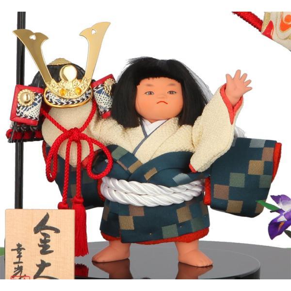 五月人形 金太郎 子供大将飾り 武者人形 幸一光作 鯉飾り 金太 兜持 5号 h245-mi-53001|2508-honpo|03