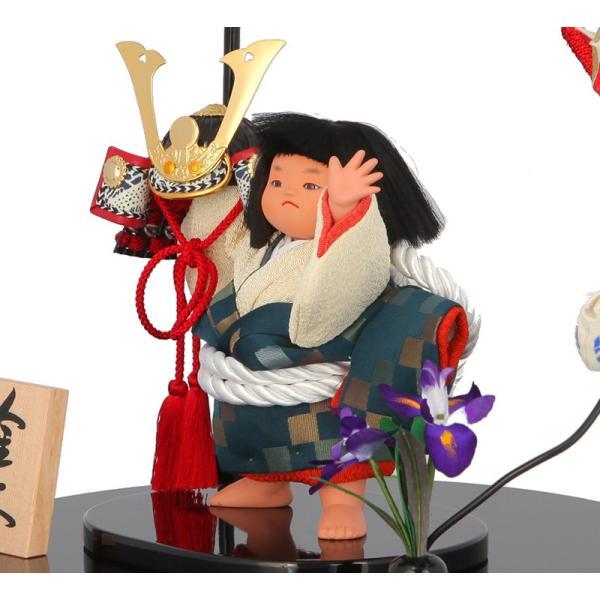 五月人形 金太郎 子供大将飾り 武者人形 幸一光作 鯉飾り 金太 兜持 5号 h245-mi-53001|2508-honpo|04