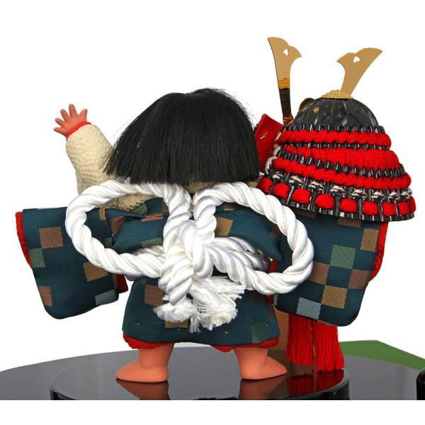 五月人形 金太郎 子供大将飾り 武者人形 幸一光作 鯉飾り 金太 兜持 5号 h245-mi-53001|2508-honpo|05