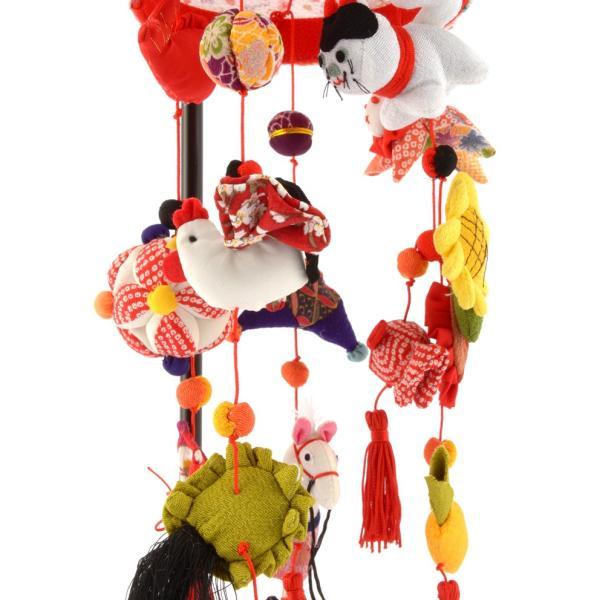 つるし雛 久月 雛人形 飾り方 特選 ひな人形 つるし飾り 夢子 スタンド付  h293-kcp-si-25-3 おしゃれ かわいい 人形屋ホンポ 2508-honpo 04