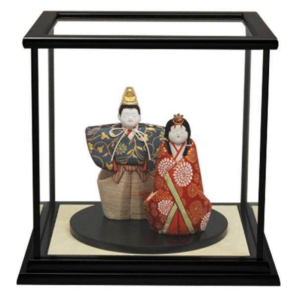 雛人形 幸一光 ひな人形 コンパクト 木目込み ケース飾り 親王飾り 立雛 和泉 正絹 黒塗カブセクモリバックケース 伝統的工芸品 h313-koi-4276|2508-honpo
