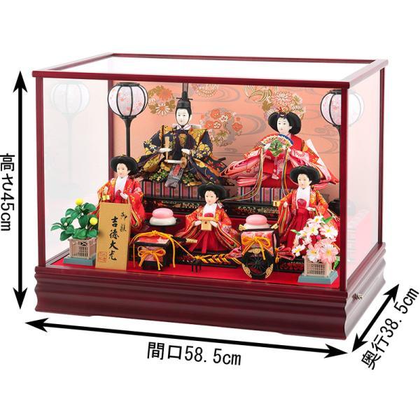 雛人形 ひな人形 コンパクト 吉徳大光 ケース飾り 五人飾り h283-yscp-322293|2508-honpo|02