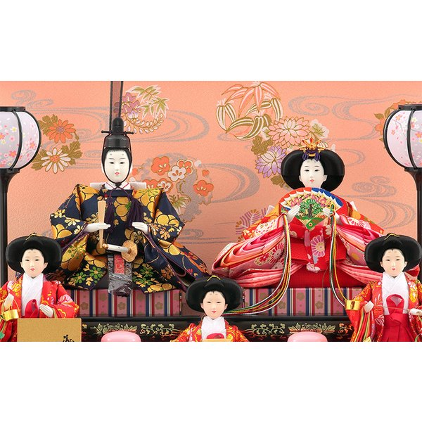 雛人形 ひな人形 コンパクト 吉徳大光 ケース飾り 五人飾り h283-yscp-322293|2508-honpo|03